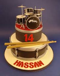 Fondant Drum Set Cake Cakepins Com Tutorial Pinterest Drum