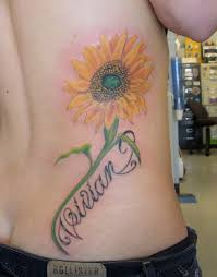 sunflower shoulder tattoo go7a