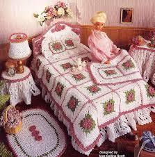 fashion doll home decor crochet victorian bedroom annies attic