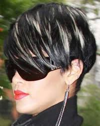 black hair with grey streaks black short hair with grey highlights best short hair 2017