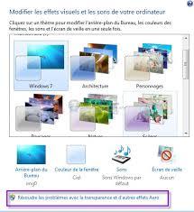 performance du bureau pour windows aero résoudre les problèmes avec aero windows 7 forum seven