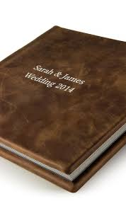 rustic wedding albums zno leather cover flush mount album