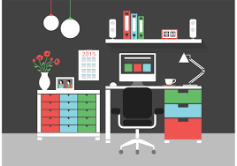 home interior vector free modern home office interior vector icons free vector