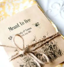 seed packet favors sunflower seed packets wedding favors flower seed packets bridal