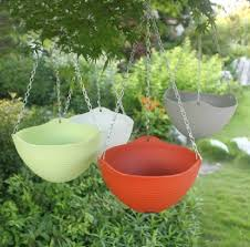 upgraded hanging pots for plants big air plastic baskets for