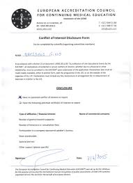 coi disclosure forms