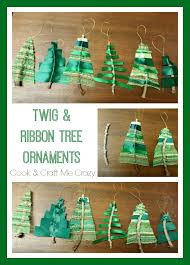 cook and craft me crazy twig u0026 ribbon tree ornaments