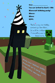 minecraft birthday invitations birthday invitations minecraft best party ideas