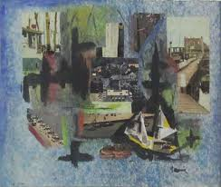 france cami mixed media nautical collage by french artist france