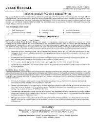 training on resume sample consultant resume professional consulting resume samples