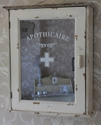 apothicaire shabby bathroom distressed cabinet cream cupboard wood