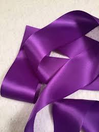 purple satin ribbon purple satin ribbon regal purple ribbon purple bridal sash