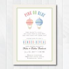 baby shower invitations hot air balloon gender reveal baby shower invitation gender