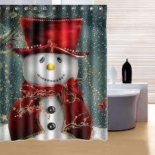 150x180cm snowman pattern waterproof polyester shower snowman