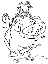 lion king timon and pumbaa coloring pages printable for child a4