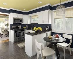 peinture cuisine jaune design interieur peinture cuisine bleu marine plafond jaune pastel