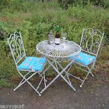 Shabby Chic Furniture Sets by Metal Shabby Chic Bistro Set Garden Table And Chairs Set Furniture