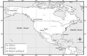 Blank Map Of Central America And Caribbean Islands by Origin And Prevalence Of Human T Lymphotropic Virus Type 1 Htlv 1