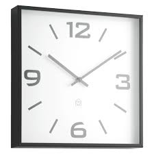 quayle black square wall clock buy now at habitat uk