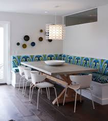 the design for banquette seating idea colorful house fancy green floral accents banquette seating pattern ideas for dining set with wooden table and elegant