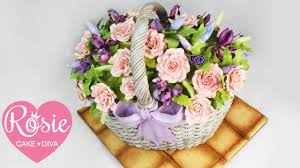 basket of flowers how to make a basket of flowers cake