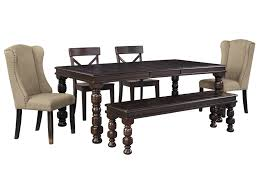 Pine Dining Room Set Signature Design By Ashley Gerlane 6 Piece Solid Pine Dining Table