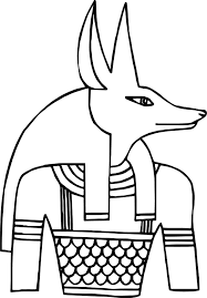 anubis just coloring page wecoloringpage