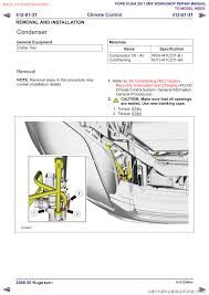 ford kuga 2011 1 g workshop manual