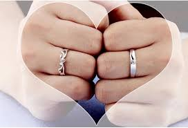 ring engaged couples ring 925 sterling silver wedding ring engaged rings a pair