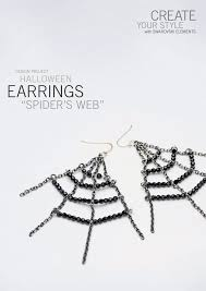 halloween spider web earrings dreamtime creations