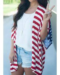 American Flag Cardigan Forever 21 American Flag Sweater In Blue Lyst