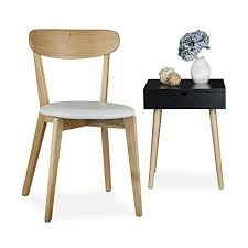 sedie per sala pranzo relaxdays 10020650 49 sedia per sala da pranzo cucina legno