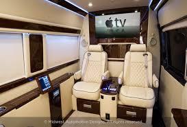 Custom Car Interior San Diego Luxury Mercedes Sprinter Midwest Automotive Designs