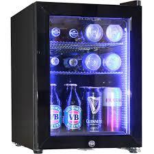 cheap glass door bar fridge glass door mini fridge with led light