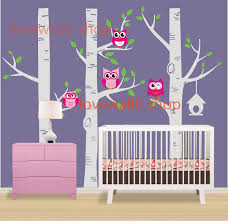 cute owl birds on large three birth trees tree birdhouse room cute owl birds on large three birth trees tree birdhouse room house wall sticker art murals