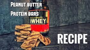 diet recipe peanut butter protein bars no bake gluten free