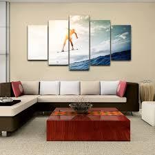 achetez en gros surf peinture en ligne a des grossistes surf toile moderne hd cadre decor A la maison peinture 5 panneau soleil sport surf affiche mur