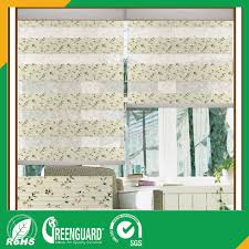 polyester fabric printed roller blind and day night shades zebra