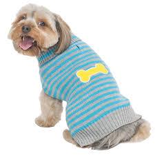 pet sweaters fashion pet lookin striped bone patch sweater turquoise