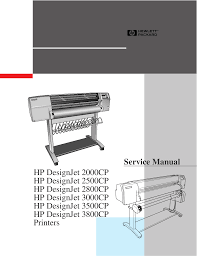 download free pdf for hp designjet 2500cp printer manual