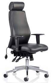 Black Leather Office Chairs Onyx Black Leather Office Chair With Headrest