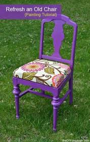 How To Reupholster A Side Chair Check Out The B A Of This Reupholstered Chair So Gorgeous Via