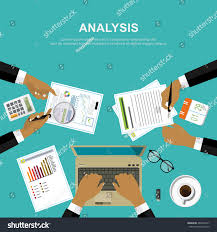 Desk Audit Auditor Work Desk Accounting Paperwork Business Stock Vector