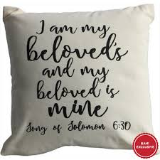 i am my beloved i am my beloved s and my beloved is mine pillow bam exclusive