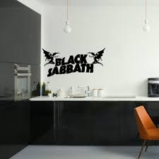 aliexpress com buy black sabbath large kitchen bedroom wall aliexpress com buy black sabbath large kitchen bedroom wall mural giant art sticker decal vinyl home decor wallpaper from reliable decor wallpaper