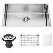 Undermount Kitchen Sinks Vigo 30 Inch Undermount Stainless Steel Kitchen Sink With Rounded