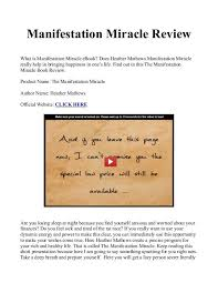 The Miracle Book Pdf Manifestation Miracle Book Manual Pdf Free Is