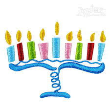 hanukah candles hanukkah candles embroidery design
