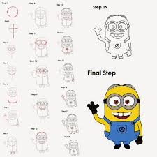 minion drawing step by step how to draw minions dave step by step