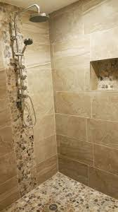 Preparing A Shower Floor For Tile by Best 25 Stone Shower Floor Ideas On Pinterest Rock Shower